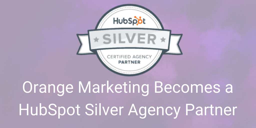 OrangeMarketing HubSpot Silver blog header