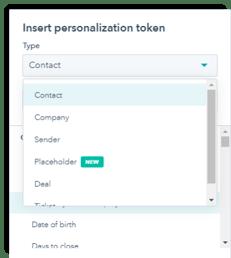 personalization token